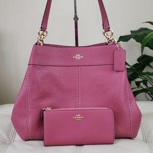 Coach Pebble Leather Lexy Shoulder Bag & Wallet